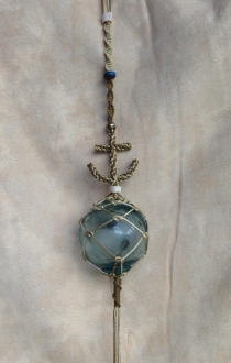 Anchor with Authentic Glass Ball
