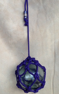 Authentic Glass Ball Hanging Rope Art