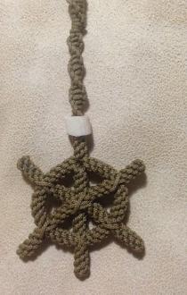 Ship's Wheel Hanging Rope Art