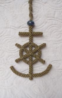 Mariner's Cross Hanging Rope Art
