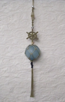 Ship's Wheel with Authentic Glass Ball